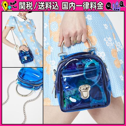 Casual Style 2WAY Chain PVC Clothing Shoulder Bags
