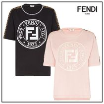 FENDI Crew Neck Cotton Medium Short Sleeves T-Shirts