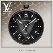 Louis Vuitton V Unisex Blended Fabrics Street Style Clocks