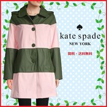 kate spade new york Stripes Medium Coats