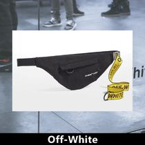 Off-White Casual Style Unisex Canvas Street Style Shoulder Bags