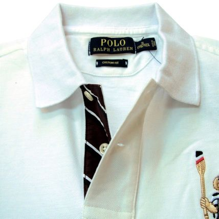 Ralph Lauren Polos Pullovers Plain Cotton Short Sleeves Polos 17