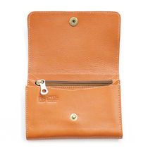 IL BISONTE Star Unisex Calfskin Plain Leather Handmade Folding Wallet