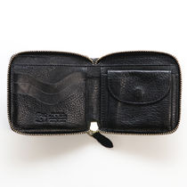 IL BISONTE Unisex Plain Leather Handmade Long Wallet  Logo