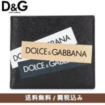 Dolce & Gabbana Unisex Street Style Leather Folding Wallets