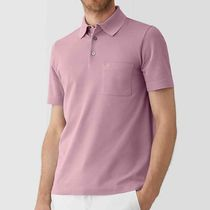 HERMES Pullovers Plain Cotton Short Sleeves Polos