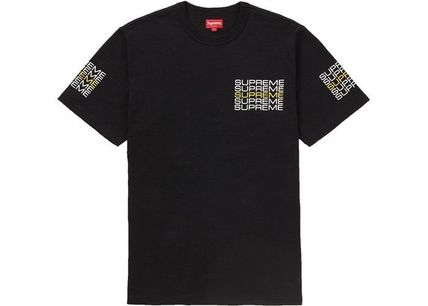 Supreme Crew Neck Crew Neck Street Style Plain Cotton Short Sleeves 4