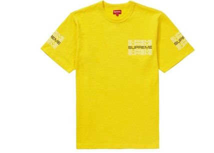 Supreme Crew Neck Crew Neck Street Style Plain Cotton Short Sleeves 6
