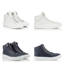 Jimmy Choo Star Unisex Studded Street Style Leather Sneakers
