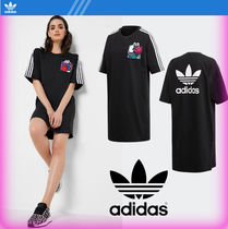 adidas Stripes Street Style Cotton Dresses