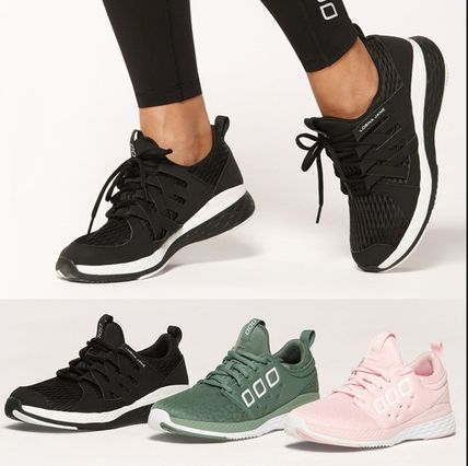 Round Toe Lace-up Casual Style Plain Low-Top Sneakers