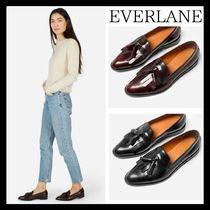 Everlane Casual Style Tassel Plain Leather Loafer Pumps & Mules