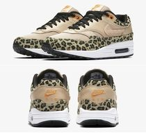 Nike AIR MAX 1 Leopard Patterns Casual Style Street Style Low-Top Sneakers