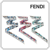 FENDI Tropical Patterns Silk Lightweight Scarves & Shawls