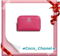 CHANEL ICON Leather Coin Purses