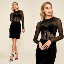 TADASHI SHOJI Short Long Sleeves Party Style Lace Dresses