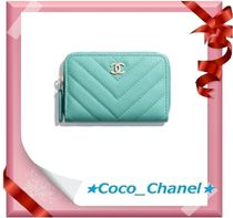CHANEL ICON Leather Coin Cases
