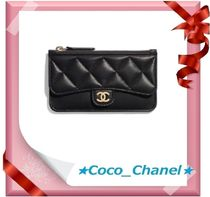 CHANEL ICON Lambskin Small Wallet Card Holders