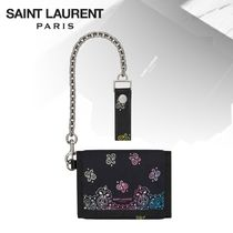Saint Laurent Paisley Chain Plain Folding Wallets