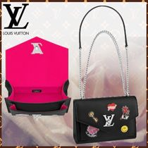 Louis Vuitton MY LOCKME  Heart Blended Fabrics 2WAY Bi-color Chain Leather