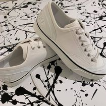 CHANEL Round Toe Lace-up Casual Style Plain Low-Top Sneakers