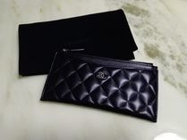 CHANEL MATELASSE Unisex Lambskin Long Wallets