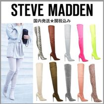 Steve Madden Suede Plain Pin Heels Over-the-Knee Boots
