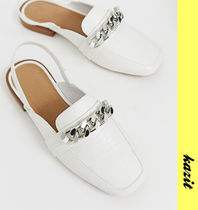 ASOS Casual Style Faux Fur Chain Loafer Pumps & Mules