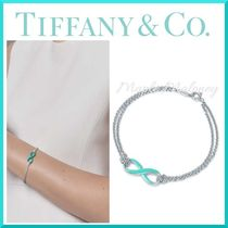 Tiffany & Co TIFFANY INFINITY Costume Jewelry Silver Elegant Style Bracelets