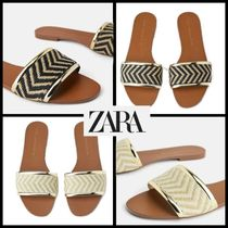 ZARA Open Toe Casual Style Espadrille Shoes