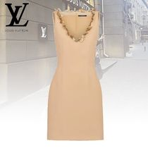 Louis Vuitton Wool Sleeveless Plain Dresses