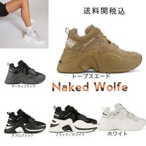 Naked Wolfe Platform Casual Style Leather Platform & Wedge Sneakers