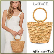 L Space Plain Straw Bags