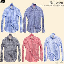Ron Herman Button-down Stripes Other Check Patterns Long Sleeves