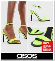 ASOS Open Toe Faux Fur Pin Heels Elegant Style Heeled Sandals