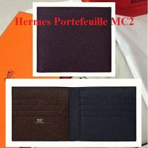 HERMES Calfskin Handmade Folding Wallets