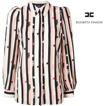 ELISABETTA FRANCHI Stripes Star Shirts & Blouses