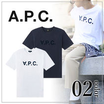 A.P.C. Crew Neck Unisex Short Sleeves Crew Neck T-Shirts