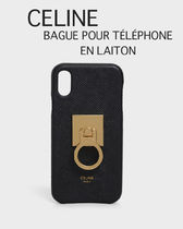 CELINE Classic Unisex Plain Smart Phone Cases
