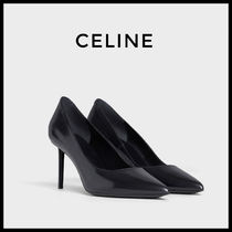 CELINE Leather Pin Heels Pointed Toe Pumps & Mules