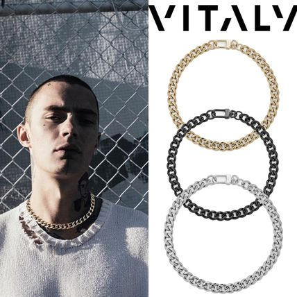 Unisex Street Style Plain Stainless Necklaces & Chokers