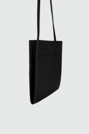 Casual Style Plain Logo Shoulder Bags