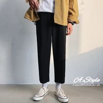 Tapered Pants Street Style Plain Oversized Tapered Pants