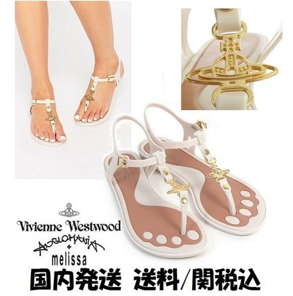 Collaboration PVC Clothing Elegant Style Sandals
