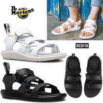 Dr Martens REDFIN Open Toe Platform Casual Style Plain Leather Sport Sandals