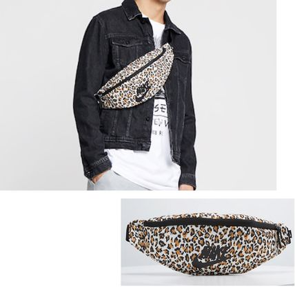 Leopard Patterns Unisex Street Style Shoulder Bags