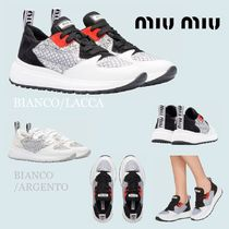 MiuMiu Rubber Sole Casual Style Low-Top Sneakers