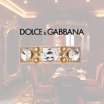 Dolce & Gabbana Barettes Brass With Jewels Elegant Style Clips