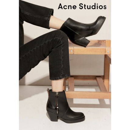 Acne High Heel Leather High Heel Boots