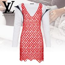 Louis Vuitton Short Blended Fabrics Plain Dresses